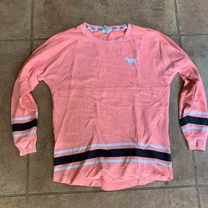 womens XS Pink victorias secret long sleeve salmon